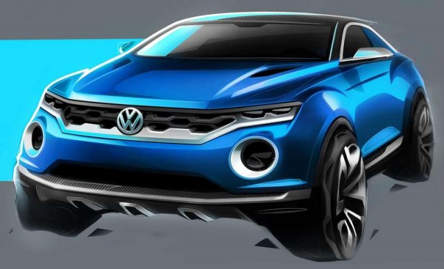 World premiere of VW T-Roc concept in Geneva 1