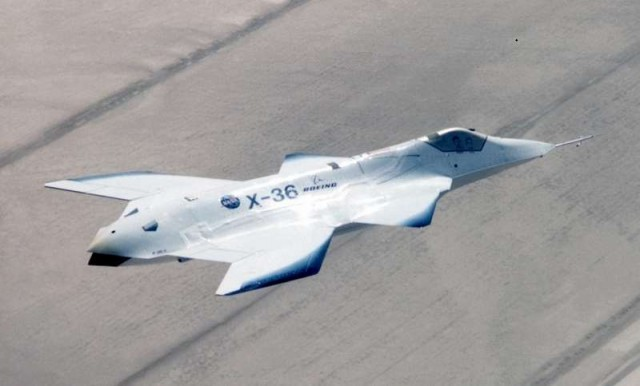 X-36 Tailless Fighter Agility research aircraft 2