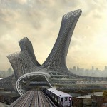 Alloy Tower over Transportation Hub in New York by AMLG...