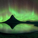 Amazing Aurora at Mount Kirkjufell