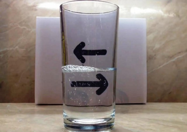 water optical illusion