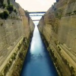 Flying through the Corinth Canal