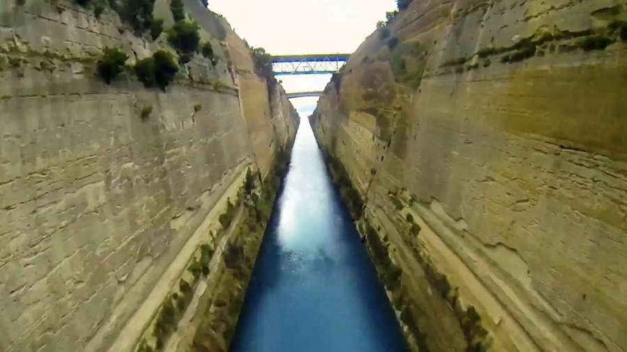 Flying through the Corinth Canal (6)