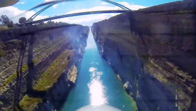 Flying through the Corinth Canal (3)