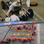 Formula 1 Pit Stops 1950 Vs. Today