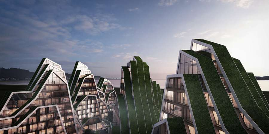 Wordlesstech hualien residences by bjarke ingels group for Big bjarke ingels group