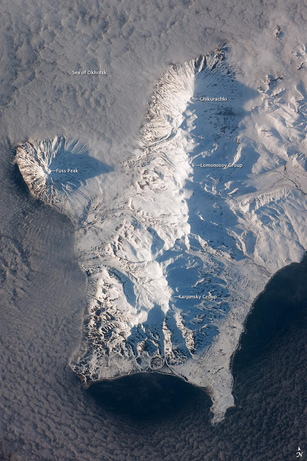 snow-covered volcanoes
