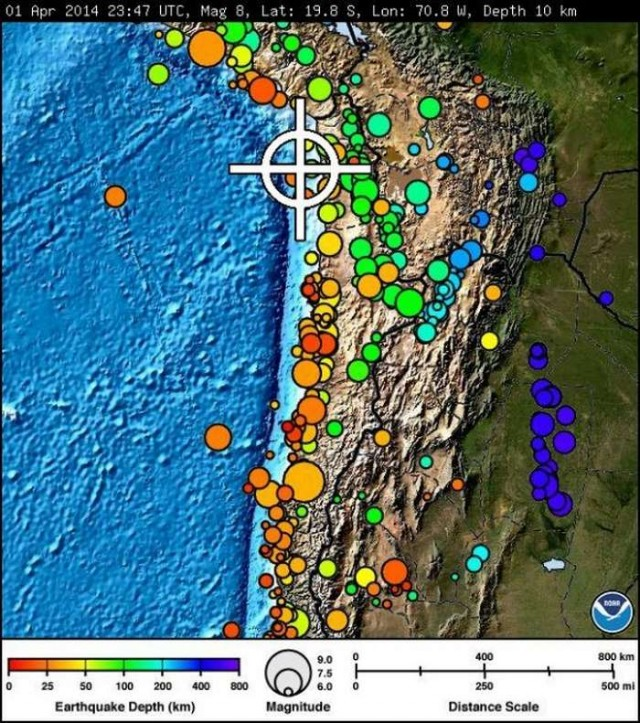 8.2 Massive Earthquake in Chile