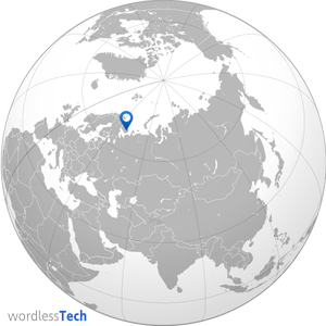 Meteor over Russia map