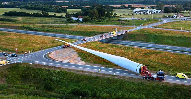 Moving Wind Turbine Blade