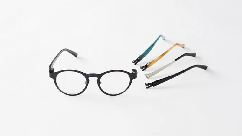 nendo replaces screws with magnets in eyeglass frames