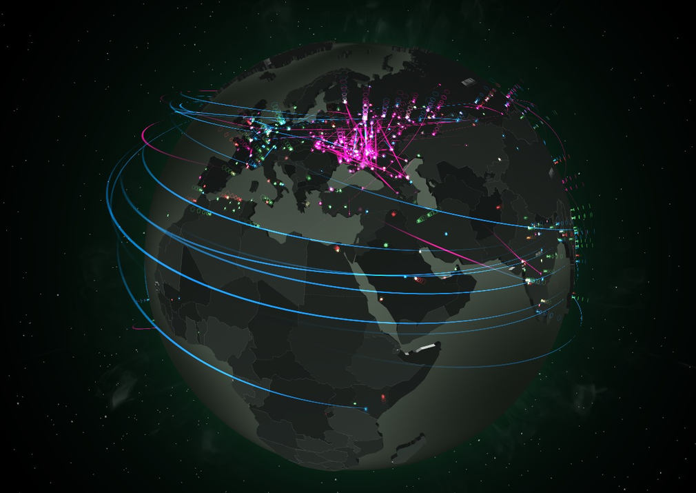 Cyberattacks interactive map