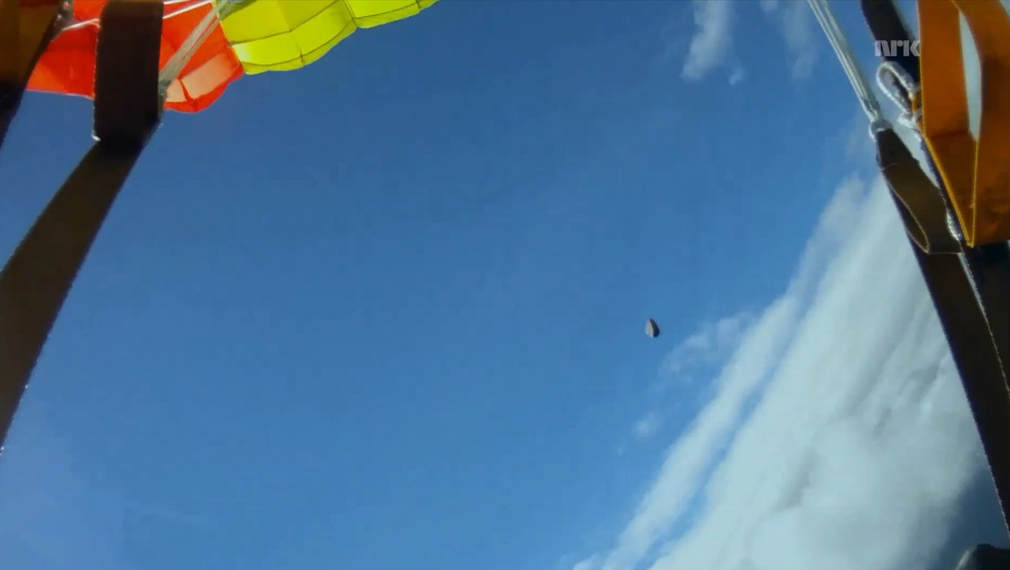 Skydiver and Meteorite