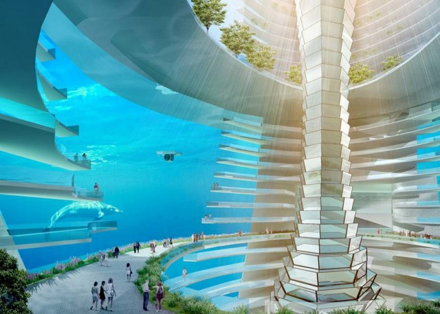 floating city concept amazing office designs