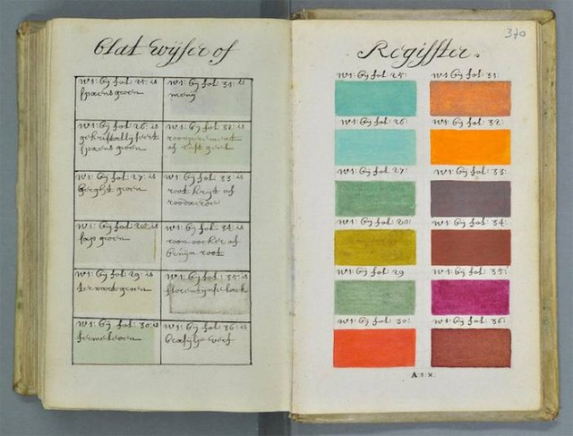 322 years old colors guide book