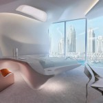 Opus Office Tower interiors by Zaha Hadid