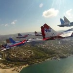 Russia's top aviation aces in perfect formation