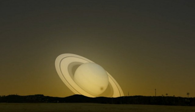 Saturn near Earth