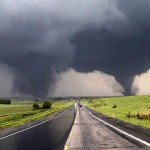 Breathtaking Double Tornadoes- video