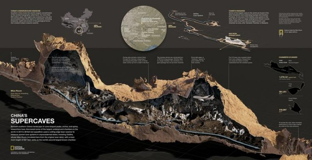 Beneath southern China's landscape cave map