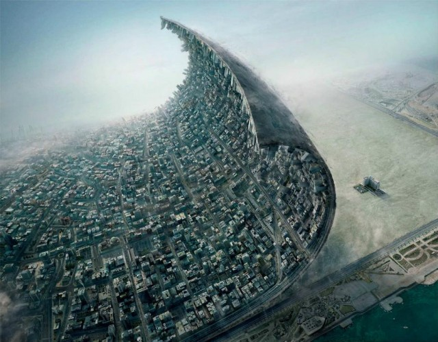 Peeling a city off Earth's crust