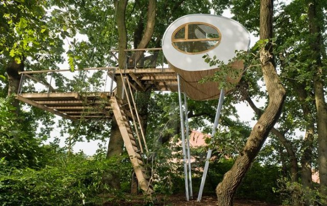 Rounded shape treehouse