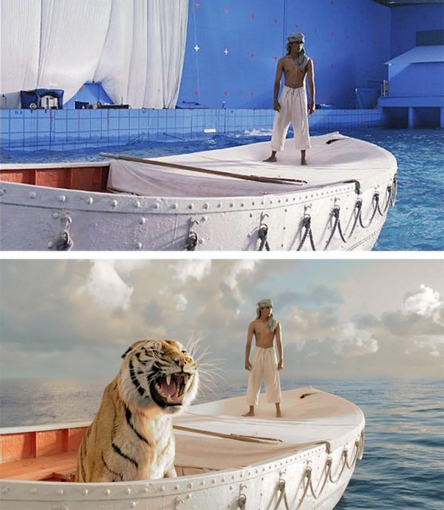 Visual Effects before-and-after