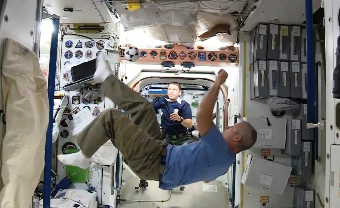 Soccer in Space Station