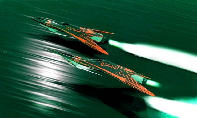 Futuristic Flying racers