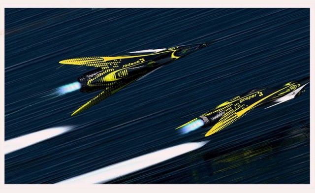 Futuristic Flying racers (3)