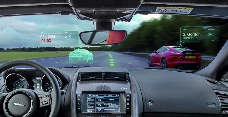 Jaguar's Virtual Windscreen