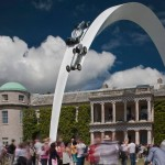Mercedes-Benz sculpture at Goodwood Festival