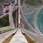 POV at world's tallest water slide