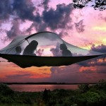 Portable suspended Tentsile Tree Tent