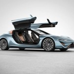 Quant 912 horsepower e-sportlimousine running on salt w...