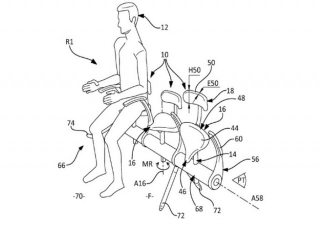 Airbus saddle seat
