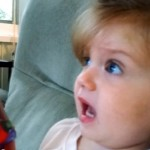 Adorable reaction watching Space Shuttle launch