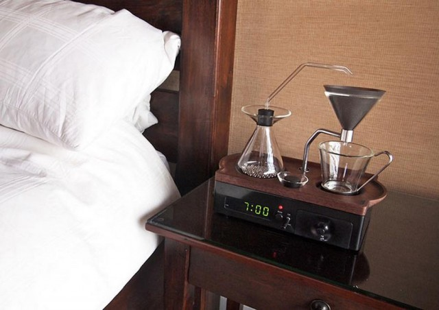 coffee brewer and alarm