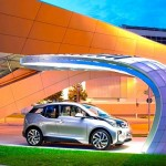 BMW unveiled first solar charging point