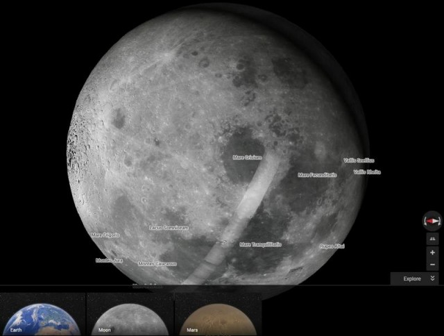 Moon with Google Maps