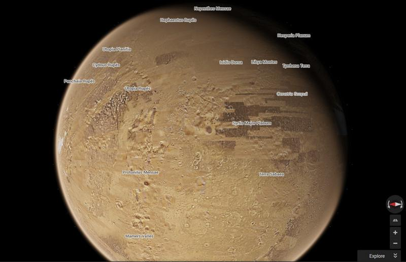 Mars with Google Maps