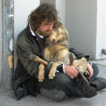 Homeless People and their Dogs = Unconditional Love