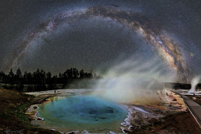 Milky Way and the Yellowstone
