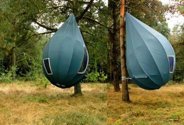 Raindrop-shaped tree tent & Raindrop-shaped tree tent | wordlessTech