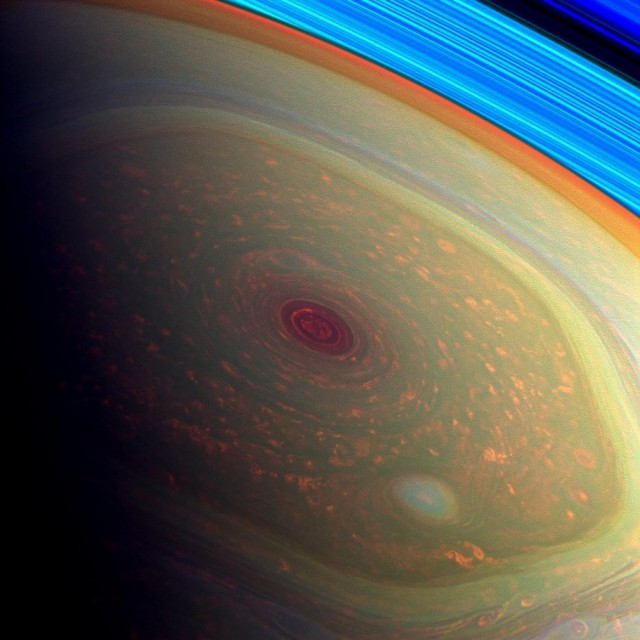 Saturn's north polar hurricane