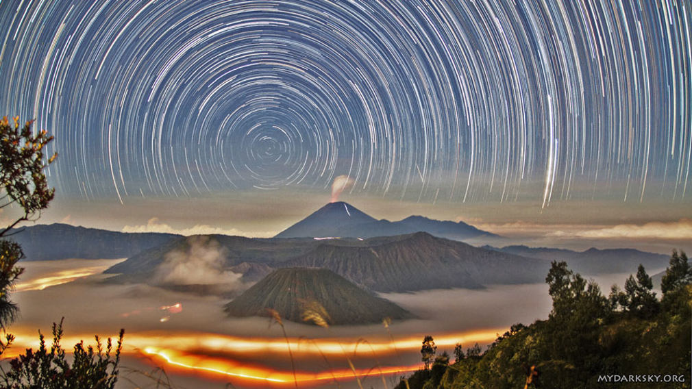 Star Trails over Indonesia