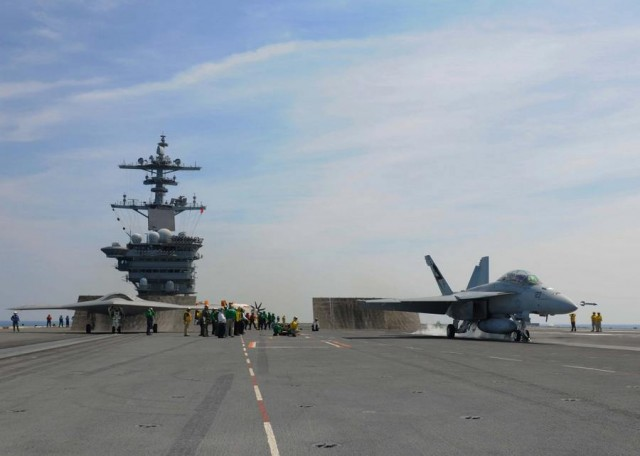 X-47B and F A-18