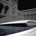 Zaha Hadid's Crest pavilion in V&A