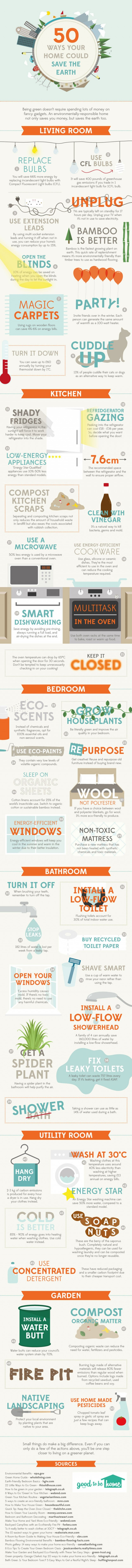 Save the Earth infographic