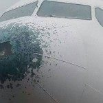 Airbus A330 after Hail strike